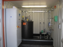 Dosing container ammonia solution