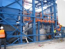 Urea Silo and diluting system during erection